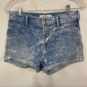 Hollister High Rise Bootie Shorts Acid Wash Size 5